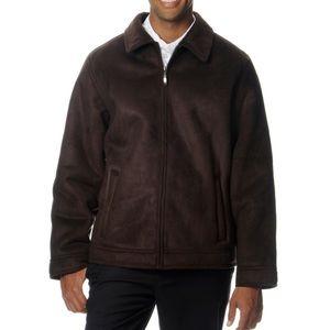 Perry Ellis Portfolio Faux Suede Coat Jacket